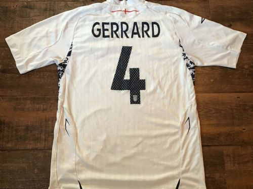2007 2009 England Gerrard Home Football Shirt Medium